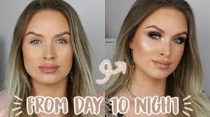 quick day to night smokey glam makeup