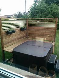 Privacy Around My Hot Tub With Bug Repelling Plants Hot Tub Patio Hot Tub Garden Hot Tub Landscaping