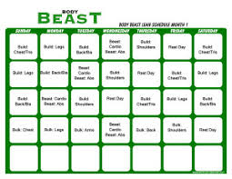 body beast workout schedule print a