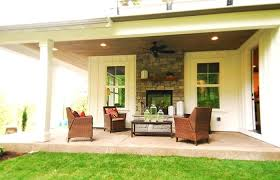 outdoor patio stone fireplace