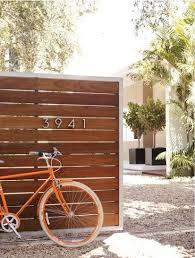 La Boheme Spaces Wooden Garden Gate Modern Fence Design Fence Design