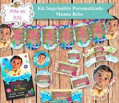 Kit Imprimible Moana Bebe Cumpleanos Candy Bar Primer Ano 380