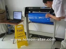 How To Use Schneideplotter Cutting Plotter Machine Lettering Vinyl Sticker Usb Ak720e كتر بلوتر Youtube