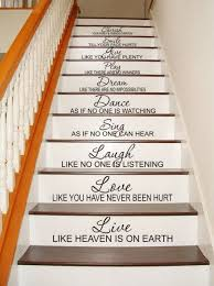Stairway Staircase Decal Stairs Live Love Laugh Sing Dance Dream Play Give Smile Cherish Wall Decal Vinyl Staircase Decals Stair Decals Stairway Decorating