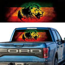 Rear Window Tint Graphic Decal Lion Of Judah Rasta Flag Ebay