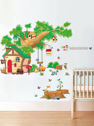 Buy 2 Pcs Wall Stickers Creative Tree House Pattern Removable Waterproof Wall Decor Wall Stickers At Jolly Chic