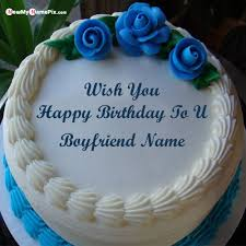 rose birthday cake for boyfriend wishes