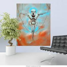 Robot Martyr Retro Sci Fi Art Wall Decal At Retro Planet