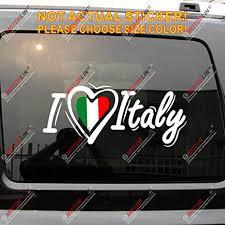 Amazon Com I Love Italy Heart Decal Sticker Italia Italian Flag Car Vinyl No Bkgrd White Tricolour 32 81 3cm Arts Crafts Sewing