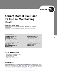 pdf apricot kernel flour and its use