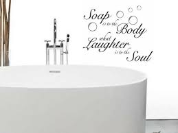 Soap To Body Laughter To Soul Words Bath Vinyl Decal Bathroom Wall Lettering 36 For Sale Online
