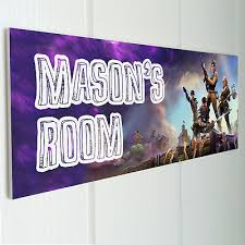 Fortnite Personalised Door Sign Plaque Kids Bedroom Grandson Son Nephew Boys Ebay