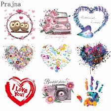 Prajna Loving Couple Patches Iron On Transfer Vinyl For T Shirt Clothing Love Heart Fashion Heat Thermal Transfers Decor Decal E Patches Aliexpress
