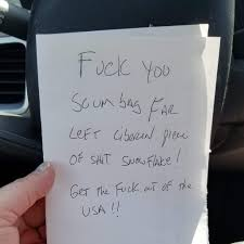Girl Has A Bumper Sticker On Her Car That Says Resist She Found This Note On Her Car Pics