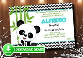 Invitacion Cumpleanos Oso Panda Mega Idea