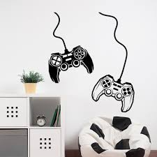 Game Wall Sticker Video Game Controller Wall Decals Joystick For Gamer Bedroom Kids Room Decoration Vinyl Gamer Gift Decal X847 Wall Stickers Aliexpress