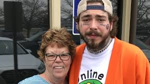 Post Malone greets fans at an Indianapolis Olive Garden