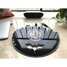 Vinyl Evolution Batman Arkham City Logo Best Wall Clock Decorate Your Home With Modern Large Superhero Art Gift For Friend Man And Boy Win A Prize For A Feedback