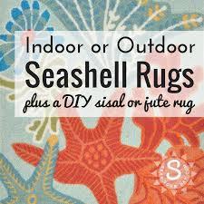 seashell designs indoor outdoor rugs