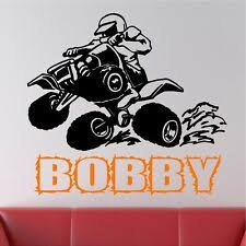 Personalized 4 Wheeler Wall Decal Removable Wall Lettering For Sale Online