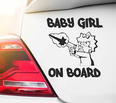 Car Decals Sticker Baby Girl On Board Car Decals Baby On Board