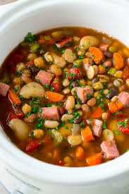 ham and bean soup slow cooker