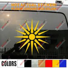 Sun Of Vergina Macedonia Flag Decal Sticker Car Vinyl Macedonian Pick Size Ebay