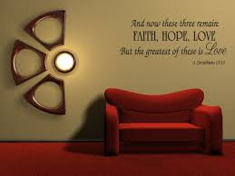 Faith Hope Love Corinthians Wall Quote Decal Scripture Bible Verse Quotes Vinyl A46 Walmart Com Walmart Com