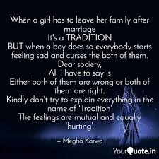 when a girl has to leave quotes writings by megha karwa