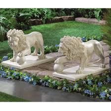 lion statues garden statues outdoor