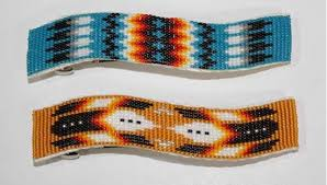 native american beads barrettes