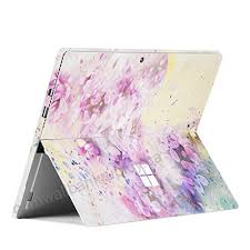 Unik Case 2017 Released Ultra Thin Skin Sticker Pvc Protective Skin Decal Vinyl Cover Protector For Microsoft Surface Pro 4 And Surface Pro Green Flowers Skins Decals Accessories