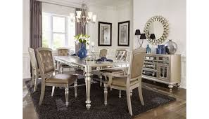 nia mirrored dining room furniture set
