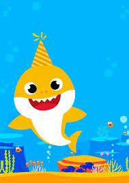 Baby Shark Invitaciones Para Imprimir Gratis Invitaciones De Bebe Cumpleanos Del Bebe Temas De Fiesta De Cumpleanos