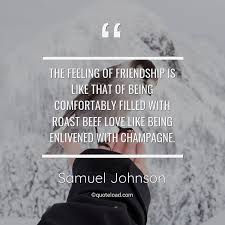 the feeling of friendship is l samuel johnson about friendship
