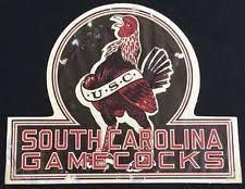 Rare 1939 South Carolina Usc College Football Schedule Window Decal Sticker College Stickers College Decals College Logo
