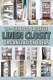 best linen closet organization ideas