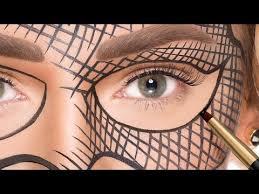make masquerade mask with makeup