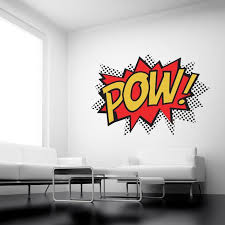 Pow Comic Wall Stickers Wall Sticker Decals Quotes Wall Vinyl Decor Wall Stickers Superhero Wall Stickers