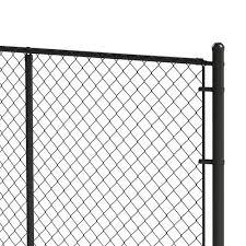 2 3 8 Black Chain Link Fence End Post Kit At Menards