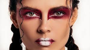 women makeup face make up portrait