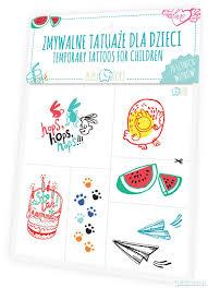 Zmywalne Tatuaze Dla Dzieci Letnie Wzory Tatuaze Pakamera Pl