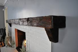 custom reclaimed barn beam mantel 3