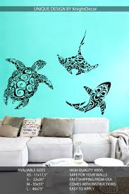 Sea Turtle Wall Decals Removable Colorful Ninja Walmart Ocean Art Coral Deep Pretty With Name Vamosrayos
