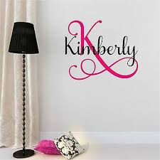 Custom Name Monogram Initial Letters Vinyl Wall Room Decal Sticker Decor E Ebay