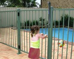 Pool Fences Wrought Iron Fence Or Temporary Chain Fence Using