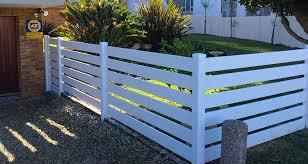 Pvc Horizontal Wide Picket Fence Horizontal Fence Backyard Fences Modern Fence