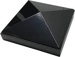 4 X 4 Aluminium Pyramid Post Cap For Metal Posts Pressure Fit Black Amazon Com