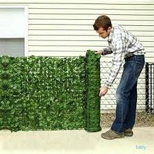 Home Artificial Faux Ivy Leaf Privacy Fence Screen Garden Outdoor Hedge Shopee Malaysia