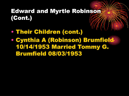 PPT - ROBINSON FAMILY TREE PowerPoint Presentation, free download ...